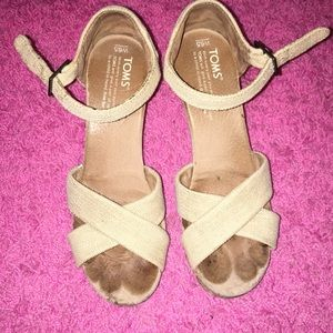 Canvas Toms wedges